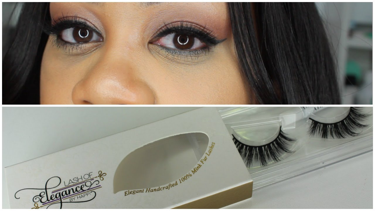 Lash Of Elegance Mink Lashes Review How To Apply Lashes Youtube