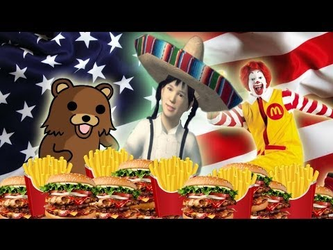 Alison Gold Chinese Food parody - I Love American Food