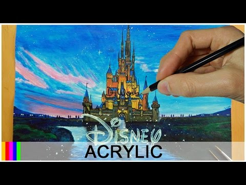 Painting DISNEY CASTLE with Acrylics