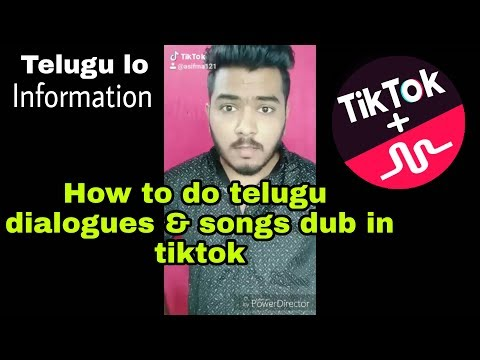 How To Make Telugu Dialogues & Songs Dubsmash In TikTok (musically) | Full Information By Asif MA