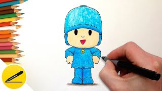 How to Draw Pocoyo step by step ✿ Learn to draw Pocoyo