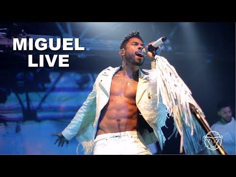 Miguel live in concert.