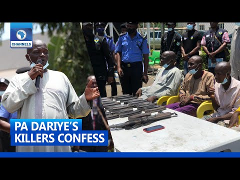 PA Dariye's Alleged Killers Confess As Police Parades Suspects In Abuja