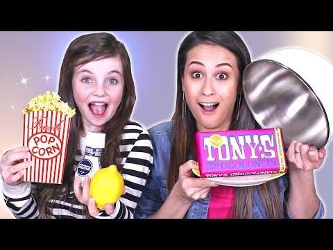 TONY'S CHOCOLONELY vs. REAL FOOD CHALLENGE! met BIBI!    Let's Play
