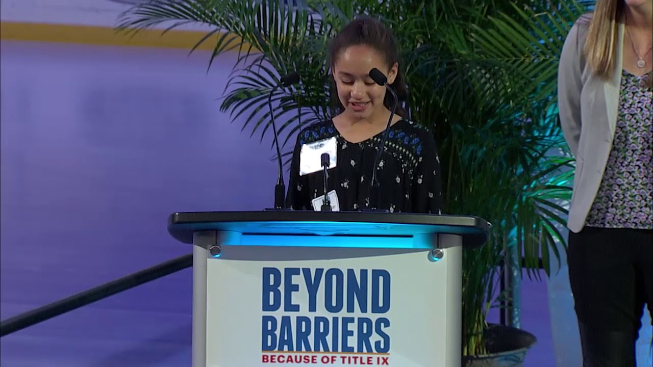 Beyond Barriers Because Of Title Ix Youtube