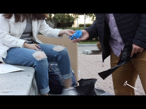 Students clean up litter on campus for Earth Week