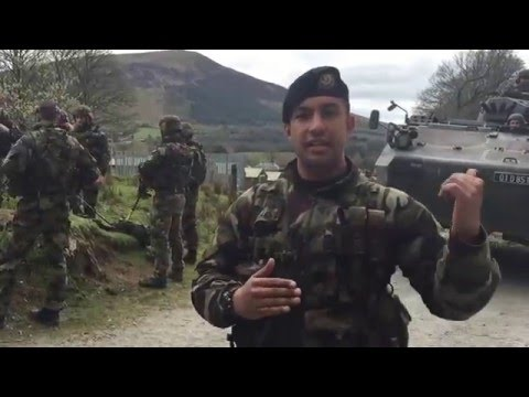 Irish Defence Forces training at Glen of Imaal