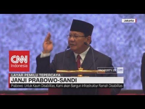"""PEMAPARAN LENGKAP Visi dan Misi Prabowo """"Indonesia Menang"""""""