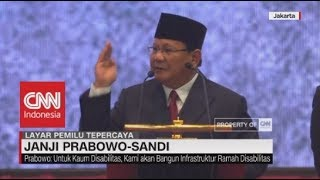 """Full Pidato Visi Misi Prabowo """"Indonesia Menang"""""""