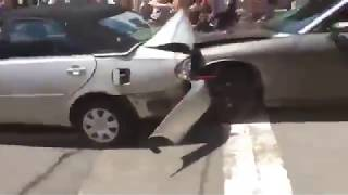 Car Plowing into Crowd, Killing One - Charlottesville, VA - Aug 12, 2017