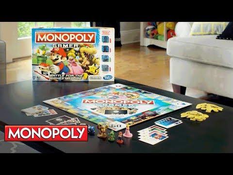Monopoly Gamer w/ Mario, Princess Peach, Donkey Kong & Yoshi - Hasbro Gaming