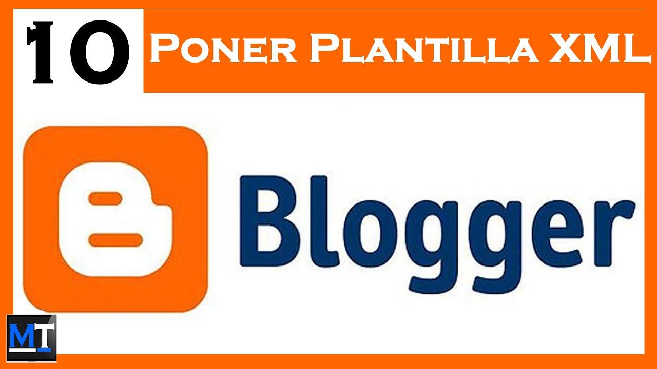 Poner Plantilla XML en Blogger [Curso de Blogger] [10/23] - YouTube