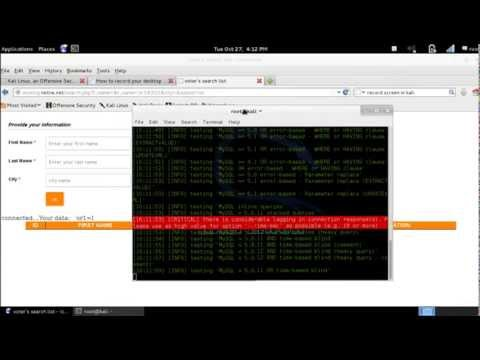 Hack  MySql database using kali linux. [full db access]