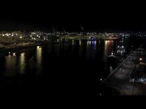 Port of Melbourne by night