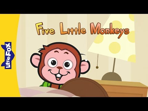 Thumbnail: Five Little Monkeys Jumping On The Bed | Nursery Rhymes | By Little Fox
