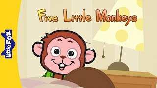 Five Little Monkeys Jumping On The Bed - Nursery Rhymes by Little Fox