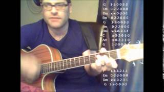 """How to play """"Out Of Touch"""" by Hall & Oates on acoustic guitar"""
