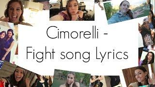Cimorelli - Fight song LYRICS