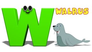 Phonics Letter- W song | Educational Videos For Children | Cartoon Videos For Toddlers by Kids Tv
