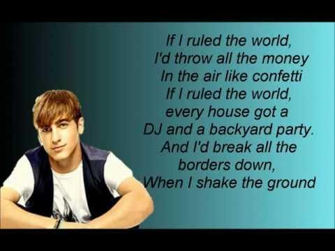 If I Ruled The World- Big Time Rush Lyrics Video