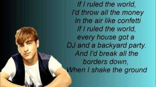 If I Ruled The World- Big Time Rush Lyrics Video thumbnail