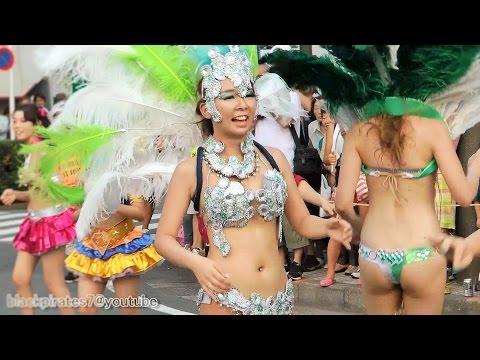 美人女子大生たちがサンバでダンス☆ 東京外語大ブラジル研究会 SAMBA CARNIVAL (サンバカーニバル)