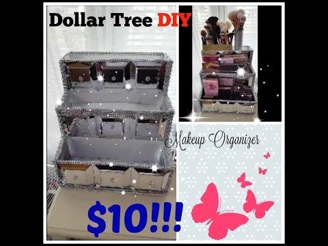 dollar-tree-diy-|-makeup-organizer-storage-|-do-it-yourself