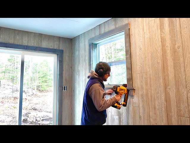 Lumber Prices are High So I Made THIS Custom Trim WORK For Under $25 a Window | OFF-GRID CABIN BUILD