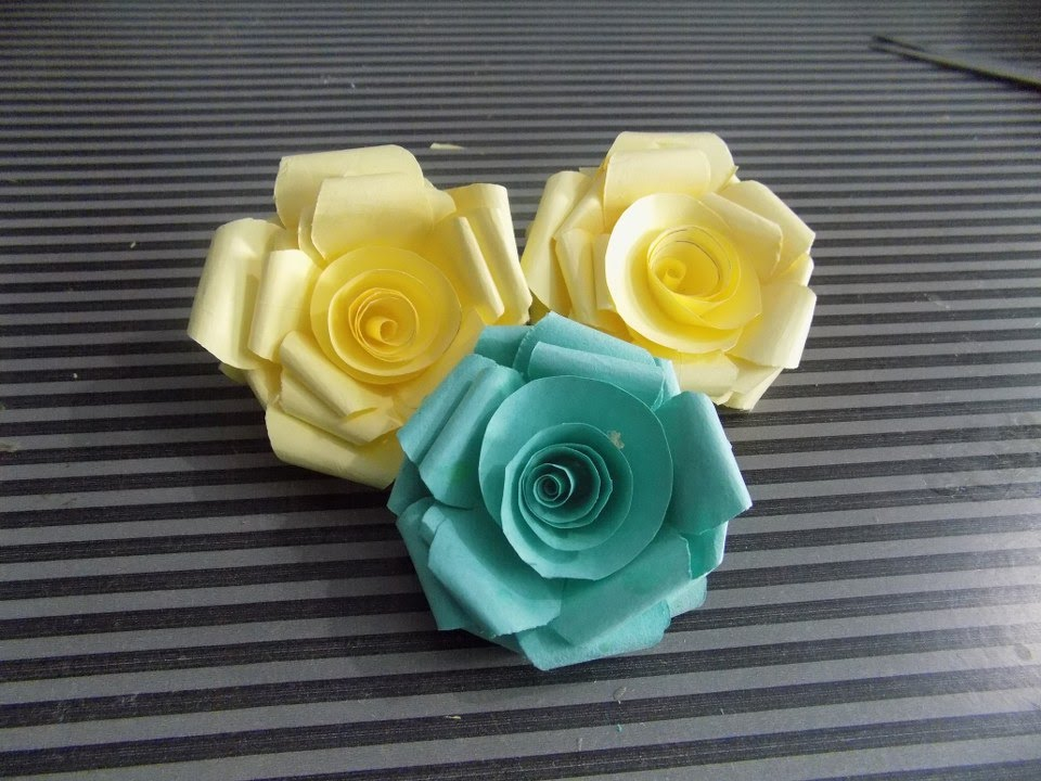How to make paper roses at home step by step easy 2015 youtube mightylinksfo