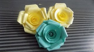 how to make paper roses at home  step by step easy- 2015