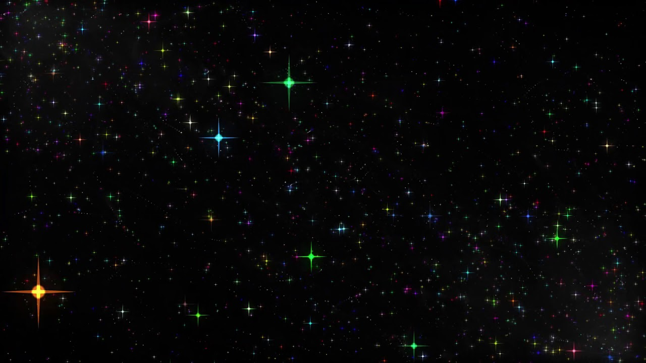 Royalty Free Colorful Sparkles Particles Stars Black Screen Background Video Effect Youtube