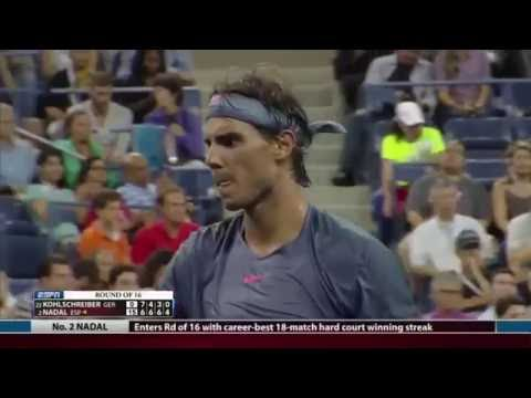 Nadal vs Kohlschreiber - R4 Us Open 2013 Highlights
