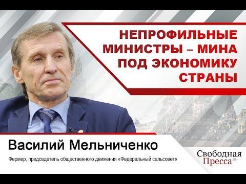 Василий Мельниченко: Непрофильные министры — мина под экономику страны