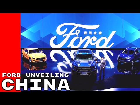 Full Ford Models Unveiling In Shanghai, China