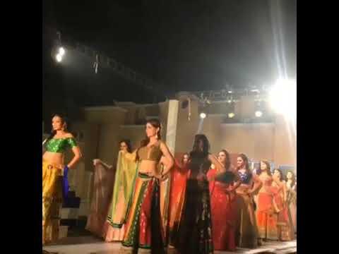 Worlds best Designer show Mrs India globe 2018 Lehenga choli collection design by Divya and Satish