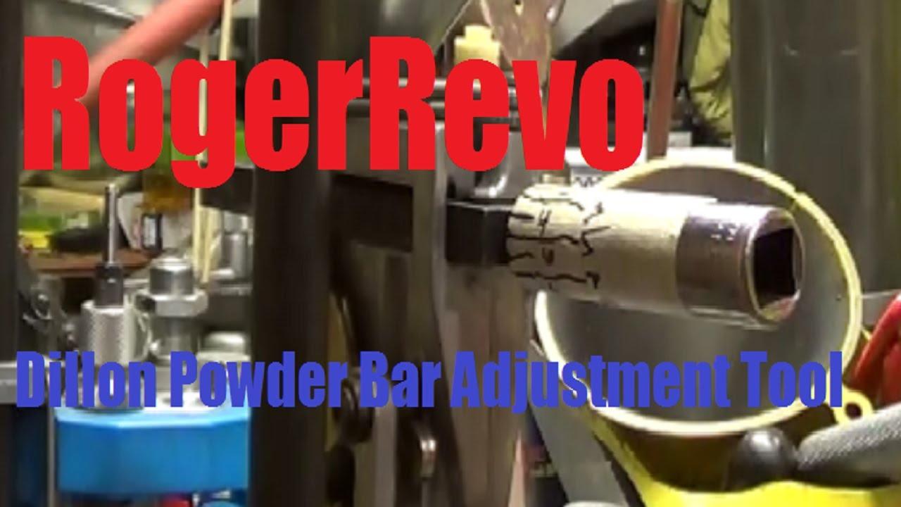 How to make and use a Dillon Powder Bar adjustment tool
