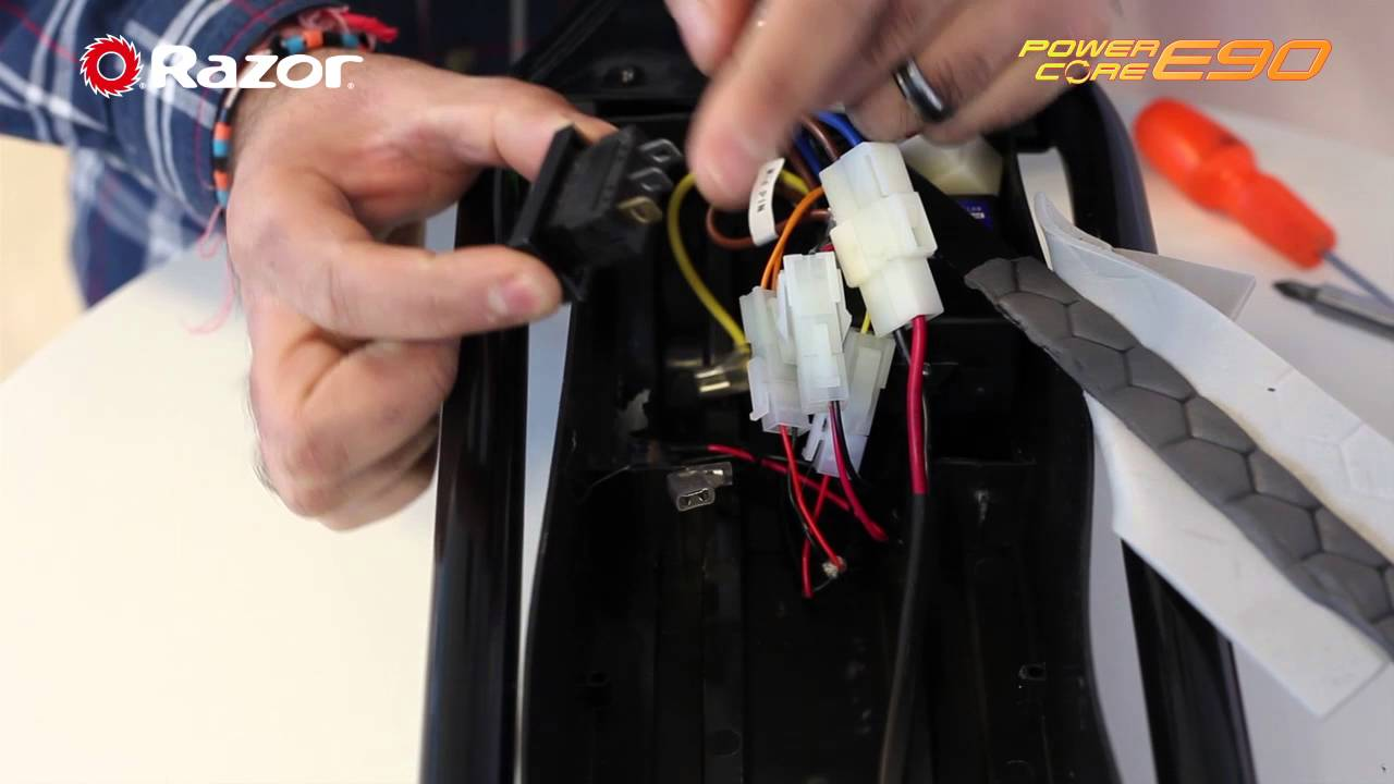 Razor Power Core E90 How To Replace The On Off Switch Youtube Electric Scooter Parts Diagram
