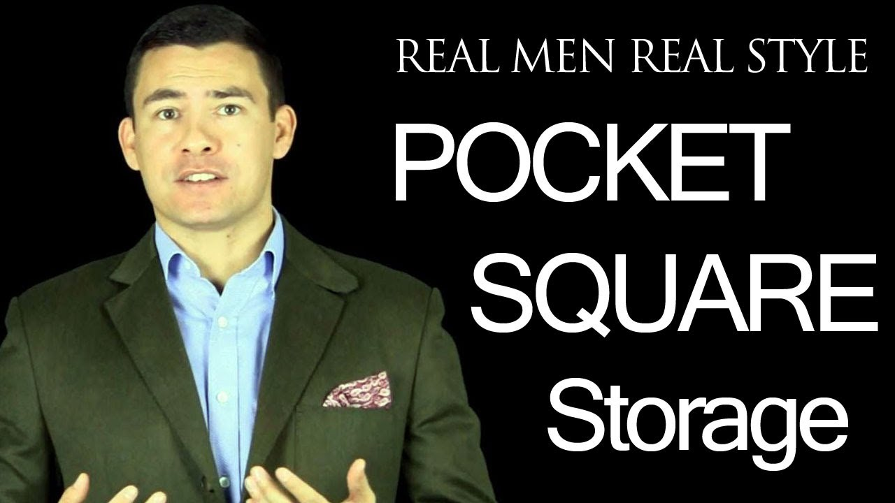 Pocket square storage - Tips on how to pack and store a men's handkerchief  - YouTube