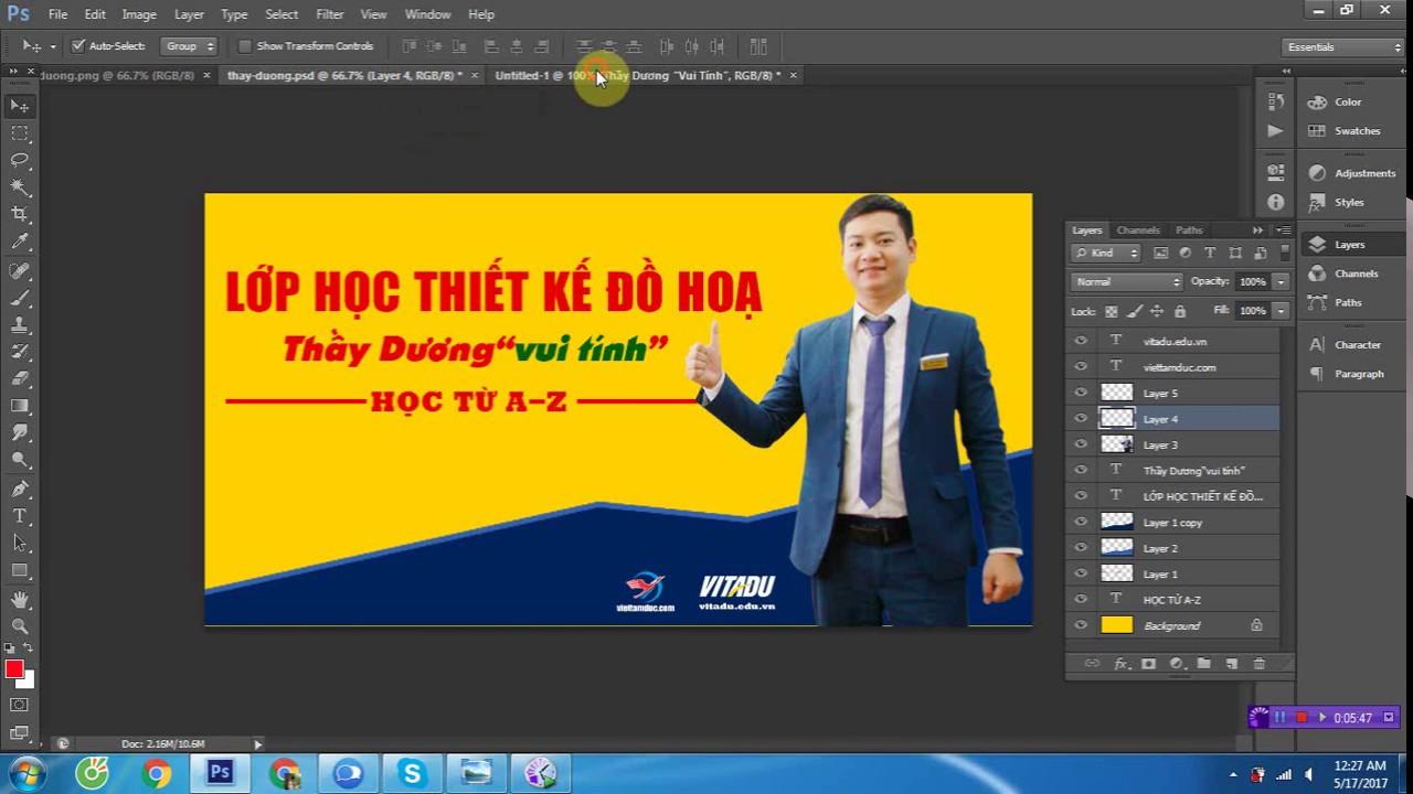 [Học photoshop VIỆT TÂM ĐỨC]Video hướng dẫn làm banner quảng cáo trên photoshop chuyên nghiệp