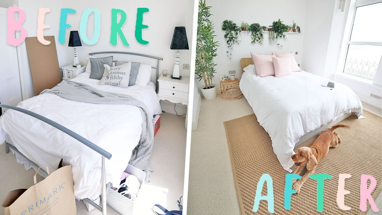 Diy Bedroom Makeover Total Transformation The Tiktok Room Youtube