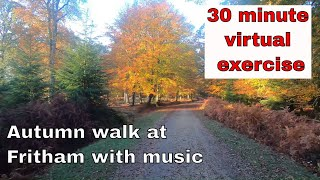 30 minute virtual Autumn walk at Fritham with music #stayathome #withme