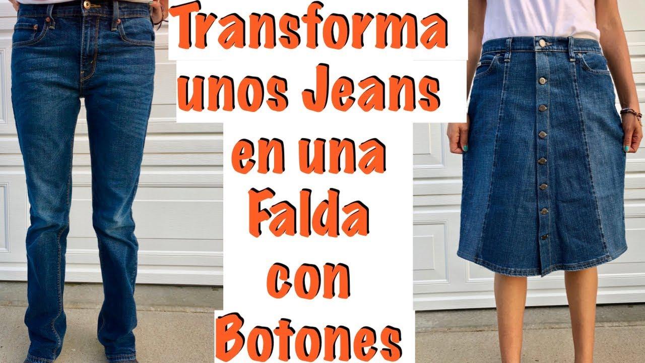 a8b15d9f2 De Jeans a una Falda con Botones
