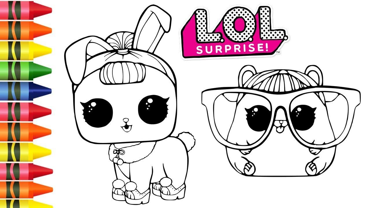 Colorindo Lol Surprise Pets E Pintar Desenhos Animados De