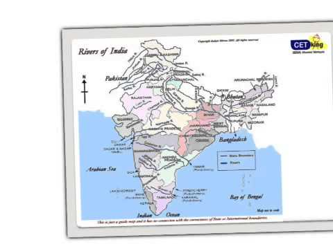 GK Magic - Geography rivers of India - Tricks to remember GK