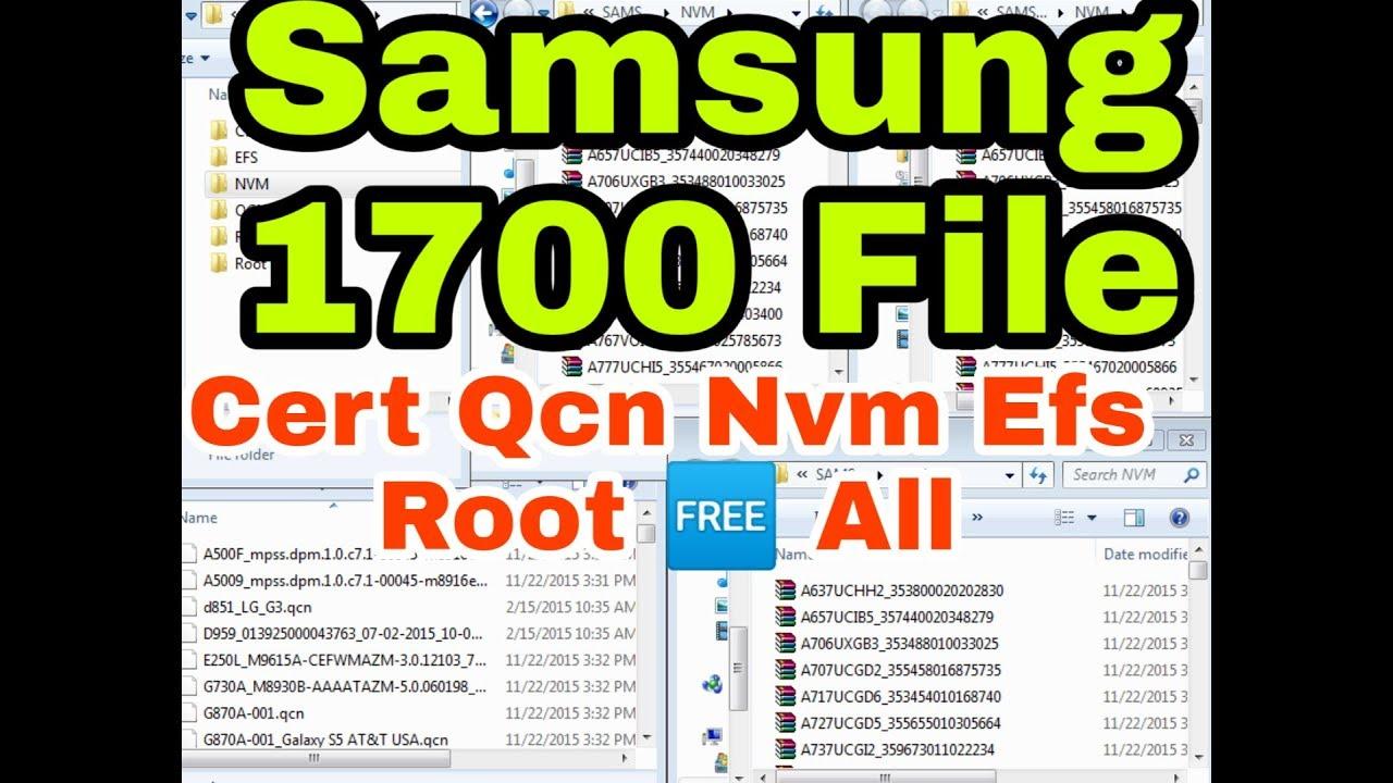 Samsung File | Cert,Efs,Nvm,Qcn,Root,Files (1700 Repair Files Download)