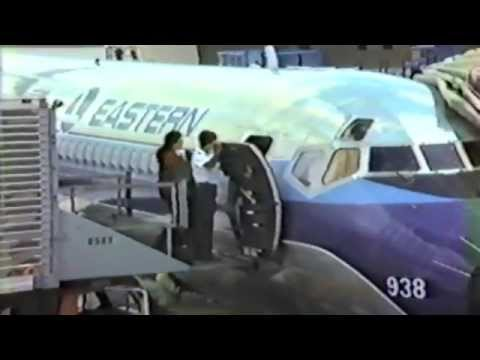 1983 Home Video Eastern Airlines pre-flight, takeoff from Orlando, landing at O'Hare Chicago