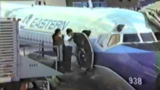 1983 Home Video Eastern Airlines pre-flight, takeoff from Orlando, landing at O