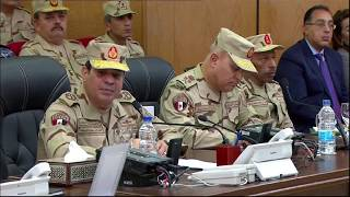 شاهد.. الرئيس السيسي يفتتح قيادة قوات شرق القناة لمكافحة الإرهاب