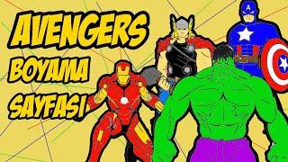 MARVEL AVENGERS ENDGAME BOYAMA VİDEOSU - Avengers Boyama Sayfası #avengers #marvel #boyama