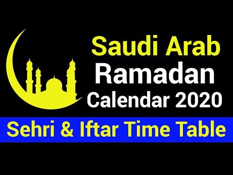 Ramadan Calendar 2020 Saudi Arabia   Sehri and Iftar Timetable of Saudi Arabia